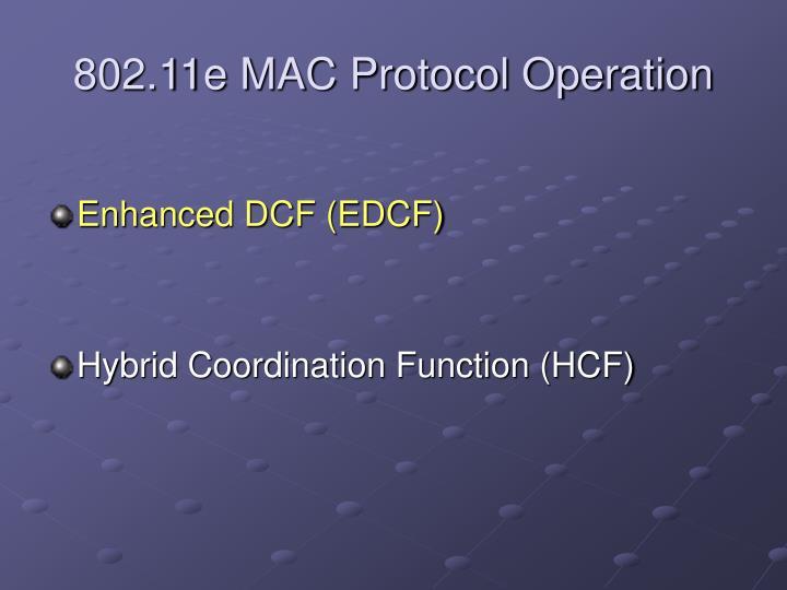 802.11e MAC Protocol Operation