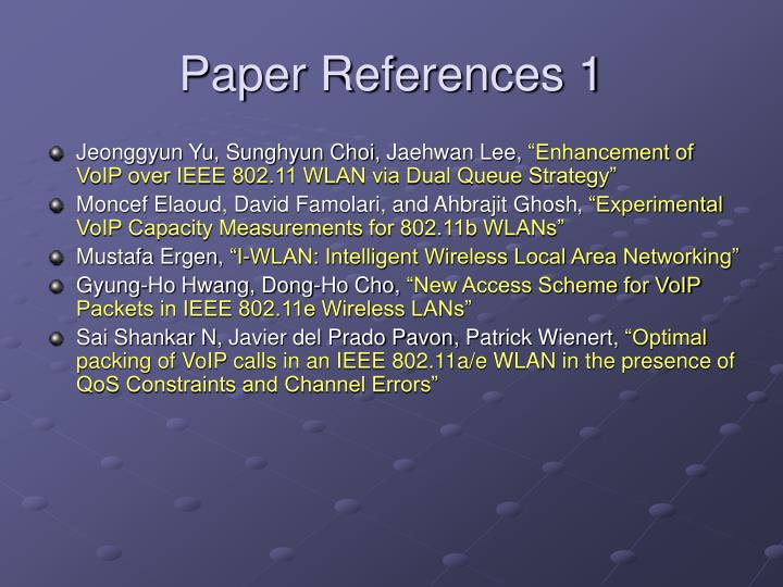 Paper References 1