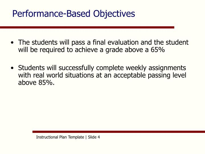 Performance-Based Objectives