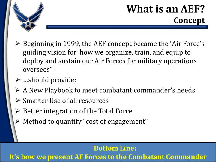 What is an AEF?