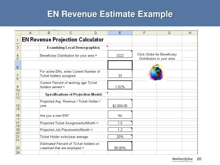 EN Revenue Estimate Example