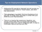 tips for employment network operations1