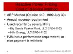 reactive power pricing cost of service method