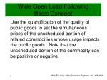wide open load following basic concept