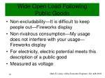 wide open load following public goods