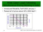 wide open load following simultaneous pricing working in india1