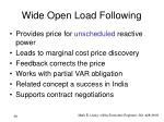 wide open load following1