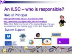 an ilsc who is responsible
