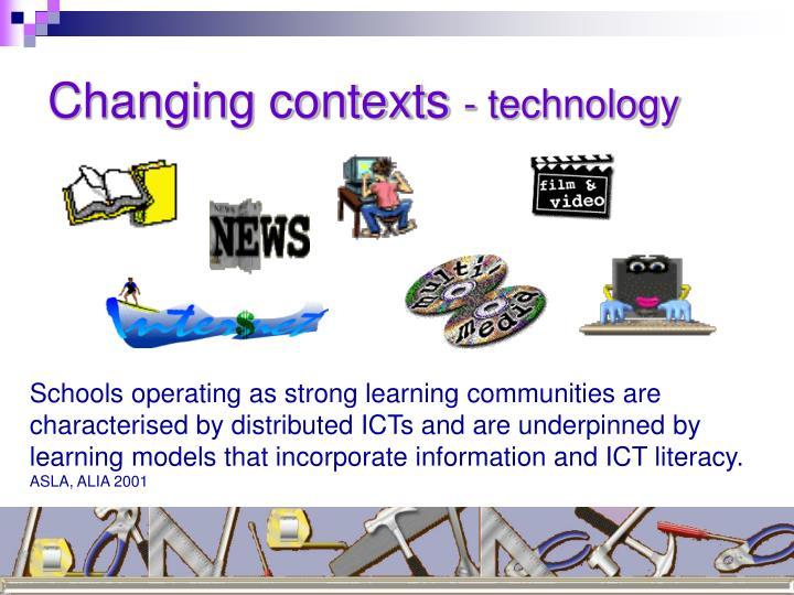 Changing contexts