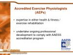accredited exercise physiologists aeps