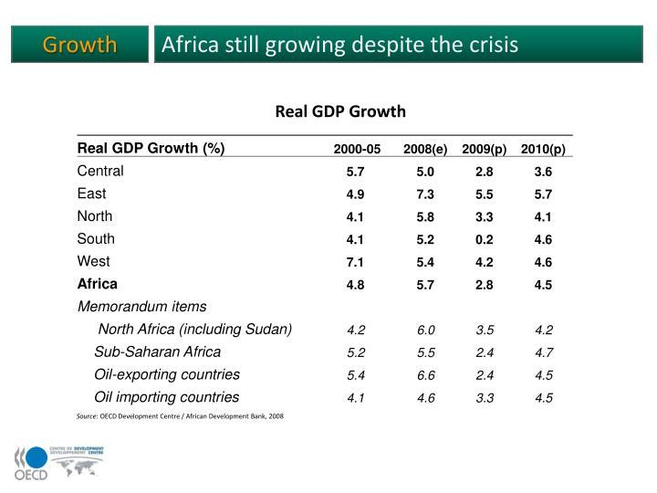 Africa still growing despite the crisis