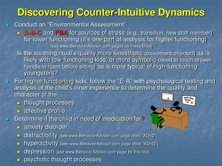 Discovering Counter-Intuitive Dynamics