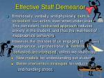 effective staff demeanor