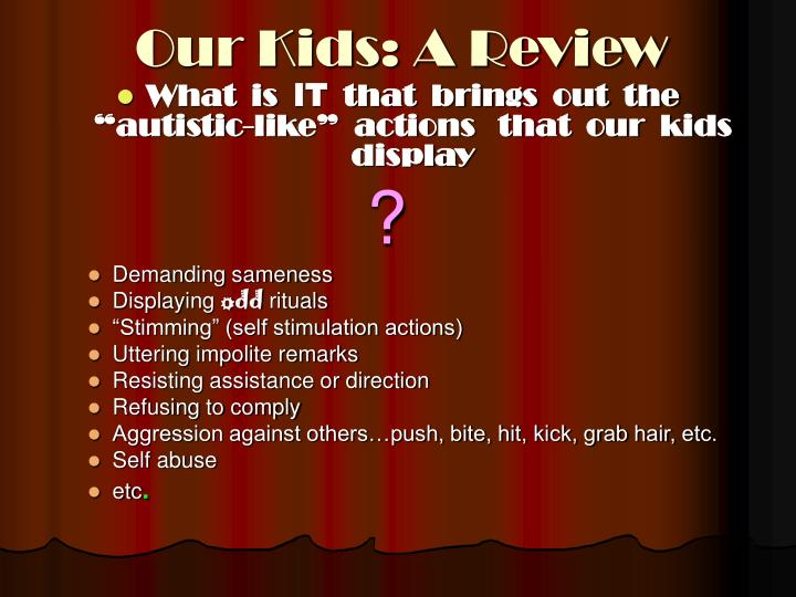 Our kids a review
