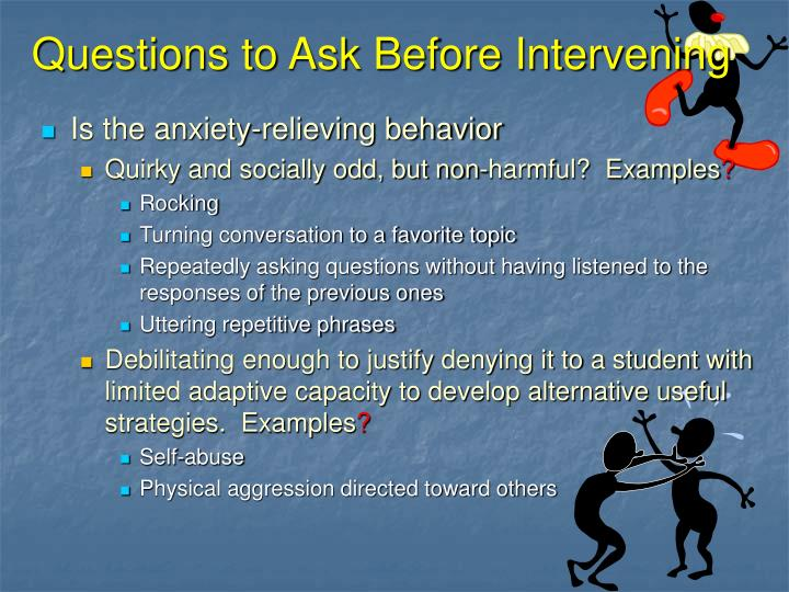 Questions to Ask Before Intervening