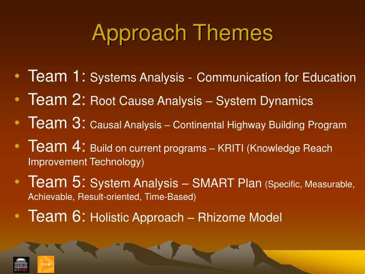 Approach Themes