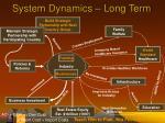 system dynamics long term
