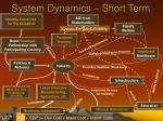 system dynamics short term