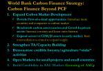 world bank carbon finance strategy carbon finance beyond pcf