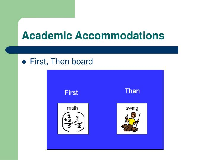 Academic Accommodations