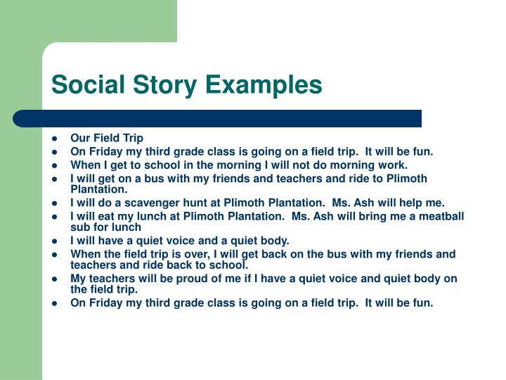 Social Story Examples