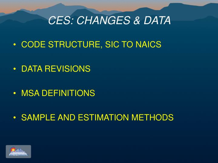 Ces changes data