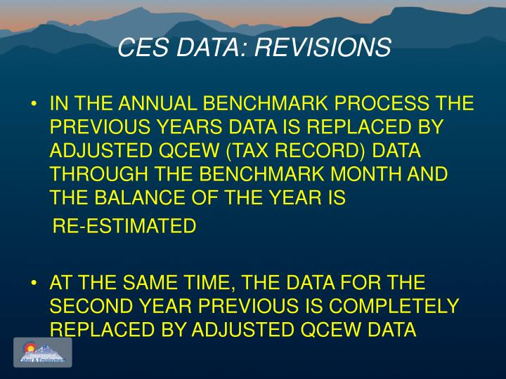 CES DATA: REVISIONS