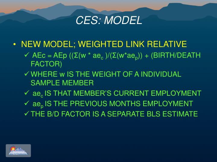 CES: MODEL