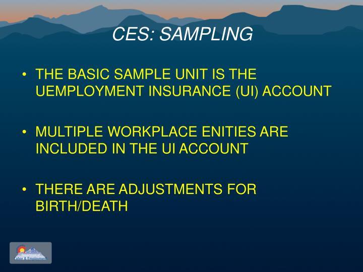 CES: SAMPLING