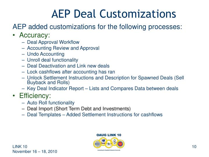 AEP Deal Customizations