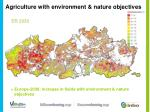 agriculture with environment nature objectives