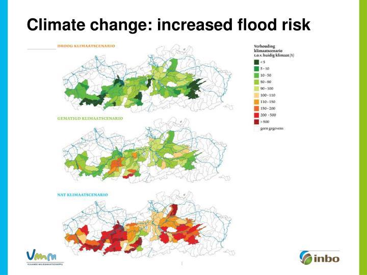 Climate change: increased flood risk