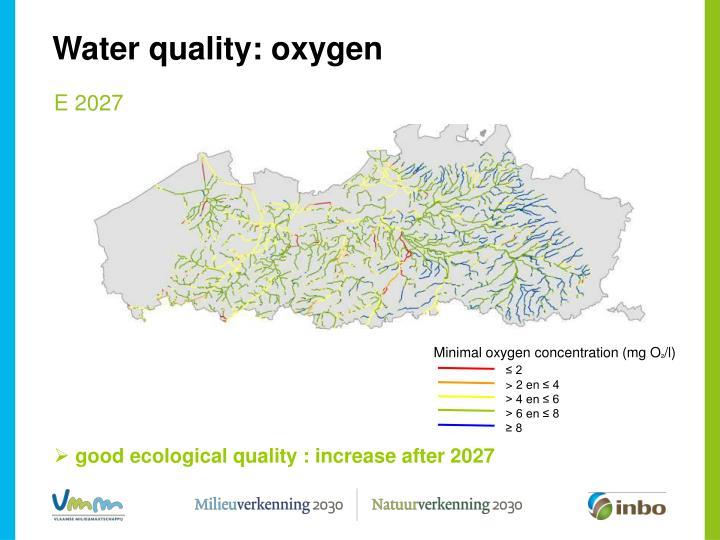 Minimal oxygen concentration (mg O