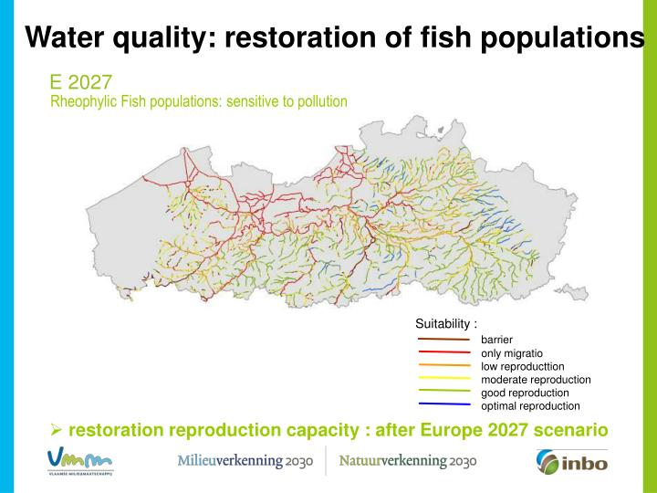 Water quality: restoration of fish populations