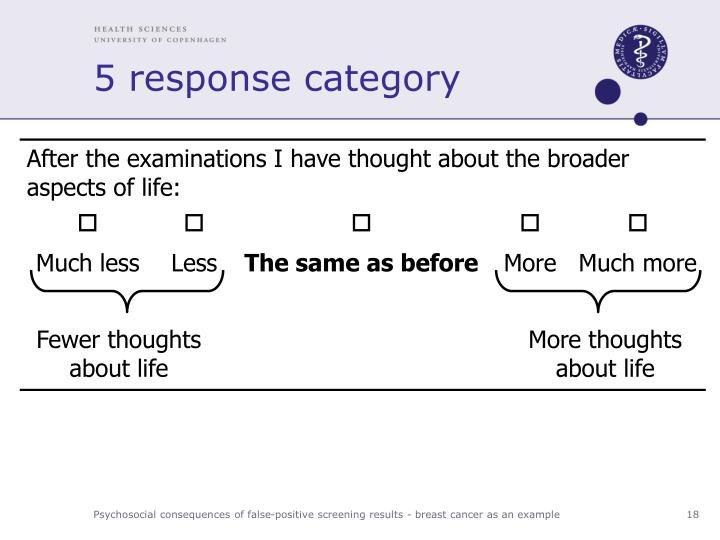 5 response category