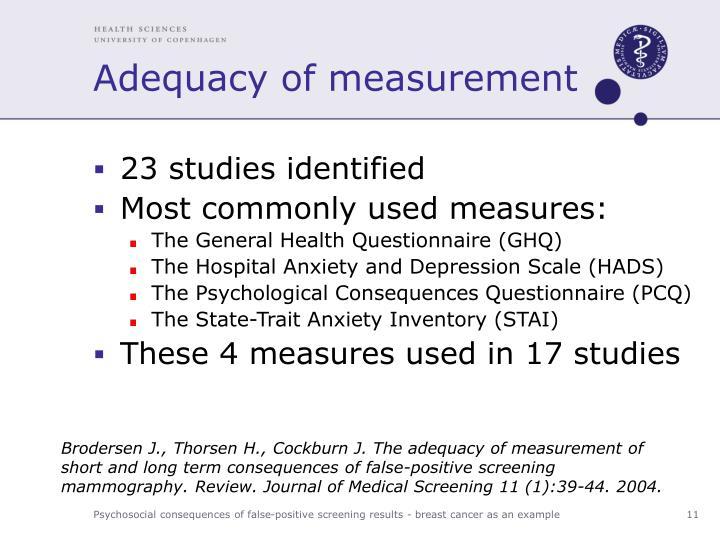 Adequacy of measurement