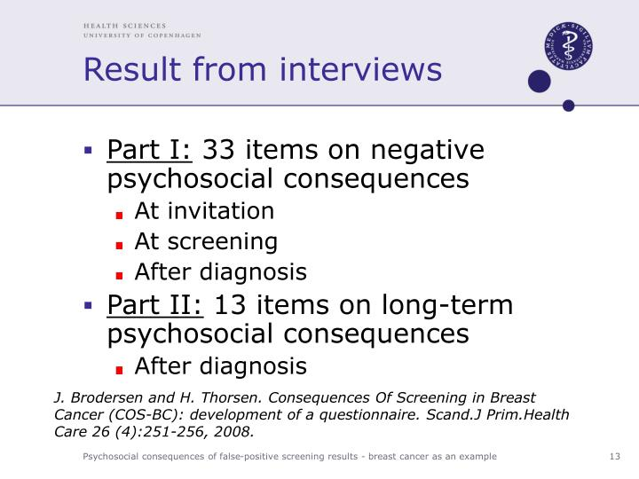 Result from interviews
