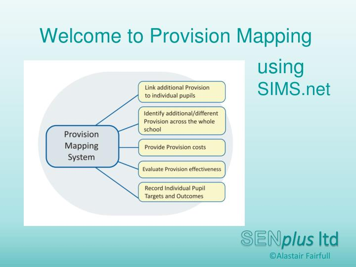 Welcome to provision mapping