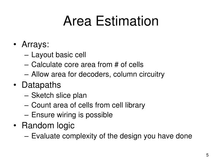 Area Estimation