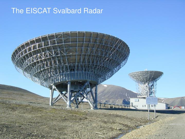 The EISCAT Svalbard Radar