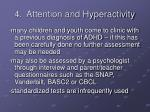 4 attention and hyperactivity