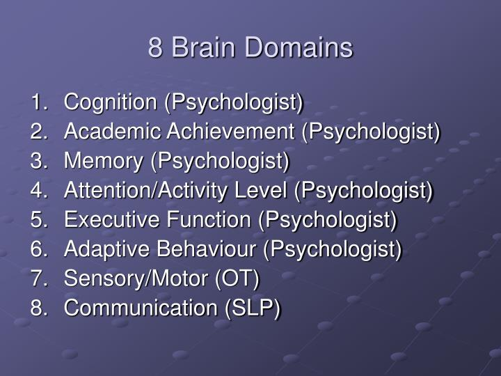 8 Brain Domains