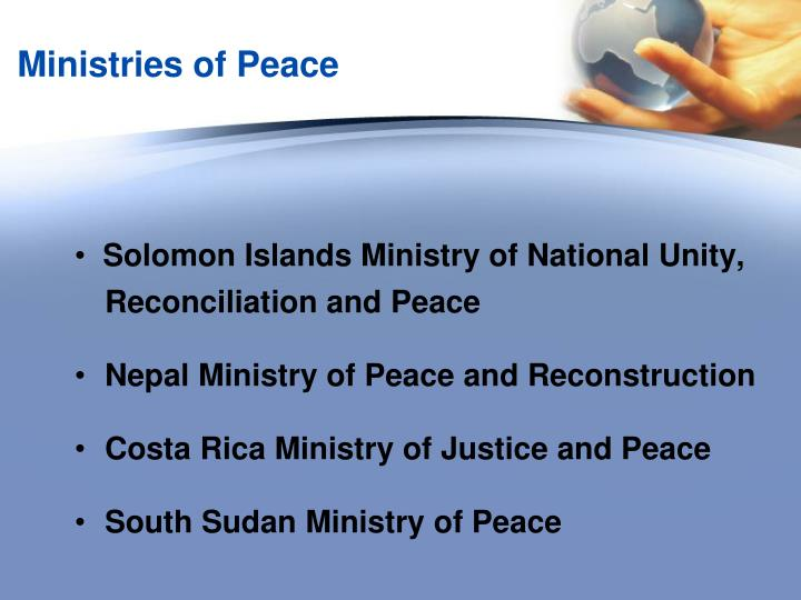 Ministries of Peace