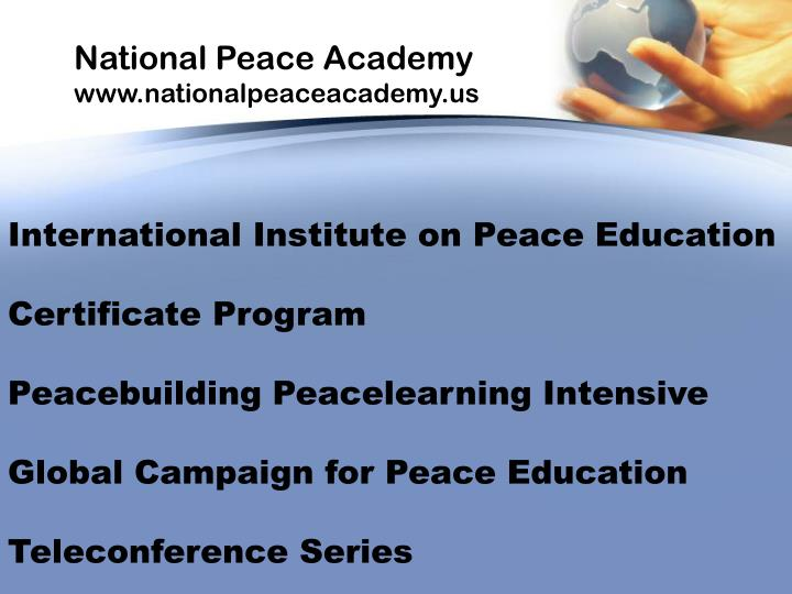 National Peace Academy