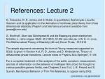 references lecture 2