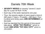 daniels 70th week1