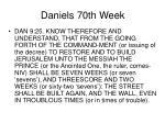 daniels 70th week11