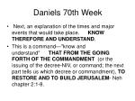 daniels 70th week12