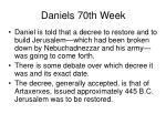 daniels 70th week13