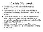 daniels 70th week16